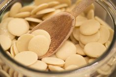 Organic, White Chocolate Buttons. Perfect for cooking a delicious storm. By Coco Chocolate UK. cocochocolate.co.uk