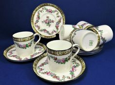 Antique Edwardian Aynsley Coffee Cans And Saucers ~ Coffee Cups ~ Espresso Cups | eBay