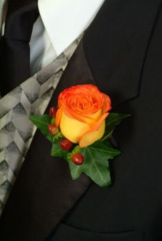 Fall Wedding Boutonniere!  Accent Flowers & Gifts in Waterford, MI is the BEST florist in Oakland county for SO many reasons!  Call (248) 461-6941 or visit our website www.aaflowershop.com to see what we are all about and to place your order!