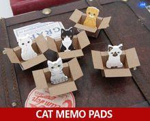 50 шт./лот Каваи коробка кот заметки, милый кот наклейки memo pad, как Корейский школа стационарных для дневник memo блокноты(China (Mainland))