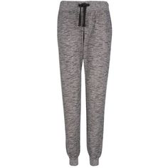 Grey Marl Cuffed Joggers (26 AUD) ❤ liked on Polyvore featuring activewear, activewear pants, pants, bottoms, jeans, pantalon and pijama