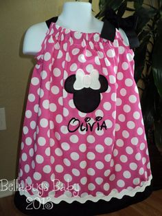 Hot+Pink+Minnie+Mouse+Pillowcase+Dress++Sizes+03+by+Bellabug08,+$26.99