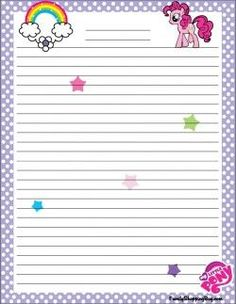My Little Pony Stationery/free printables Free Printable Bookmarks, Printable Lined Paper, Free Printable Stationery, Free Printables, My Lil Pony, My Little Pony Party, Borders For Paper, Note Paper, Paper Crafts