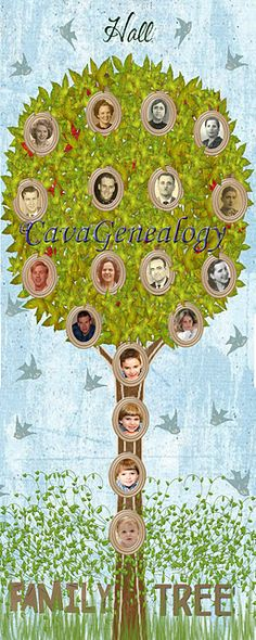 Elongated Family Tree canvas - For little spaces #genealogy