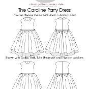 The Caroline Party Dress - via @Craftsy