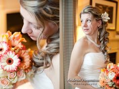 Gallery of pictures of mobile hair and makeup by Allure Hair and Makeup Niagara Side Pony, One Shoulder Wedding Dress, Curls, Hair Makeup, Prom, Gallery, Wedding Dresses, My Style, Pictures