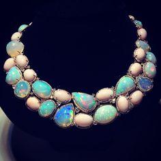 Oriental Gemco's necklace of Ethiopian opals
