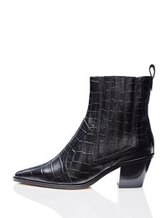 a3f6adb88c69 FIND Western Faux Snakeskin Ankle Boots