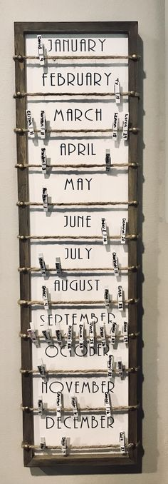 Birthday Calendar DIY - home office organization diy Birthday Calendar Board, Family Birthday Board, Diy Birthday Reminder Board, Classroom Birthday, Office Birthday, Family Calendar, Diy Calendar, Homemade Birthday, Birthday Diy
