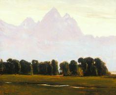SOLD I Teton Light I 20x24 I Dix Baines I Fine Artist Original Oil Paintings I Mountains I Wyoming I Teton National Park I www.dixbaines.com