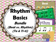 This is a great bundle for working with your young musicians on basic ta & ti-ti rhythms, as well as, beat and rhythm. This bundle includes at least 10 different activities, as well as, 2 powerpoint files to introduce some of these concepts. You will save OVER $5 by purchasing this file rather than all the separate files!  #beat #rhythm #BrittanyDeLaruelle #MakingMusicMemories #ta #titi #kodaly #basics #bundle #savings #music #education #teacherspayteachers #tpt