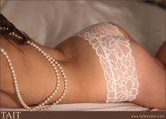pearls/lace boudoir