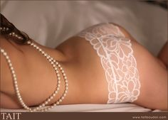 pearls and lace boudoir