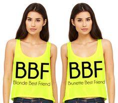 Blonde Best Friend / Brunette Best Friend Tank Top Duo #bff