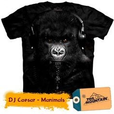 Camiseta - The Mountain - Gorilla DJ Caesar 3d T Shirts, Cool T Shirts, T Shirts For Women, Mountain Gorilla, Mountain Man, Zebras, Harley Davidson, Safari, Big Face
