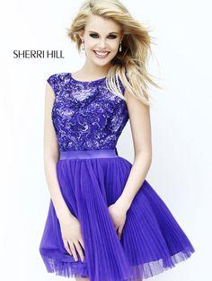 2013 Sherri Hill 21167 Purple Homecoming Dresses