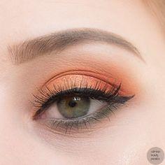 zoeva matte spectrum palette 2017 orange eye make up