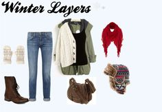 """""""Winter Layers"""" by sarahzimmerling ❤ liked on Polyvore"""