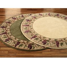 Grapes Napa Border Area Rug Touch Of Class Catalog $399