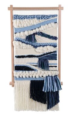 Ashford Frame Loom Create wall hangings, cushions, tablemats and coasters. The loom is ideal for students or any weaver wanting Weaving Yarn, Weaving Textiles, Tapestry Weaving, Hand Weaving, Weaving Wall Hanging, Wall Hangings, Weaving Projects, Tear, Loom Knitting