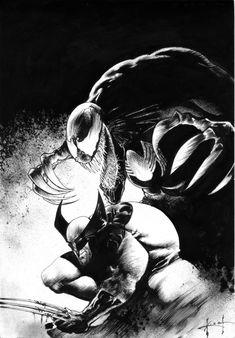 Wolverine / Venom - Sam Keith, in MikeHolman's MARVEL COMICS Comic Art Gallery Room - 759259