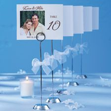 DIY Table Number Stands Kit for Wedding Reception Tables $20.95