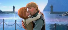 Day 5: Favorite kiss - When Kristoff and Anna kissed it was so awkward at first, but then it got so cuuteeeee.