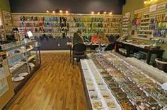 Typical beading store