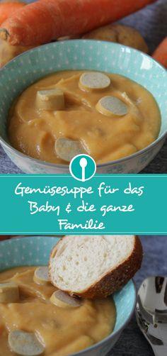 Leckeres Familienkost-Rezepte: Ein Gemüse-Kartoffelsuppe schmeckt der ganzen Familie – auch dem Baby!