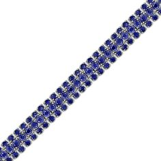 Fine Round Cut Blue Sapphire Tennis Link Bracelet in Sterling Silver * Want to know more, click on the image. (This is an affiliate link) #JewelryLover