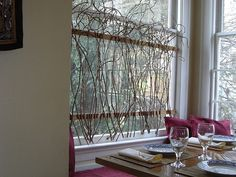 Biz Budget Designs: Branching Out: An inexpensive idea for curtain rods