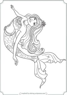 summer coloring pages for kids comes in the activity of the ... - Barbie Mermaid Tale Coloring Pages