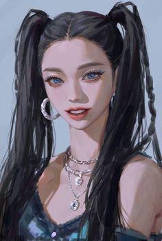 Digital Art Anime, Digital Art Girl, Digital Portrait, Character Art, Character Design, Oc Manga, Face Sketch, Kpop Fanart, Creative Portraits