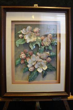 JAN VOERMAN JR 1961 Vintage Handmade 3D Flower Print/Painting Shadow Box 18x14x2