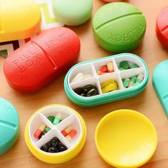 Cheap candy storage box, Buy Quality storage box directly from China box case Suppliers: CUSHAWFAMILY Portable Slots seal folding Pill Cases Jewelry candy Storage Box Vitamin Medicine Pill Box Case Container