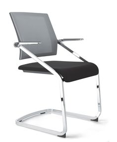 Sedere mesh back cantilever side chair
