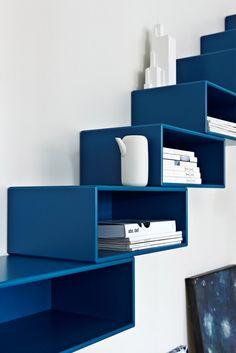 Montana stairway to heaven. #montana #furniture #blue #bookcase #shelf #shelving #system #indigo #marine
