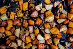 Petite Kitchen   Crispy Roasted Vegetables With Rosemary Garlic Oil