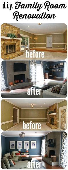 Contemporary Family Room by Designer Trapped in a Lawyer's Body !