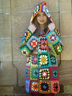 Several images for inspiration coats and dresses granny square