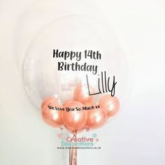 PERSONALISED BALLOONS  Are perfect for any birthday as i can add any message you would like to say. 16 Balloons, Bubblegum Balloons, Helium Filled Balloons, Orange Balloons, Rose Gold Balloons, Printed Balloons, Colourful Balloons, Balloon Quotes, Balloon Words