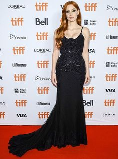 Jessica Chastain, Celebrity Red Carpet, Celebrity Style, Toronto Film Festival, Haute Couture Gowns, Gowns Of Elegance, L'oréal Paris, International Film Festival, Red Carpet Dresses