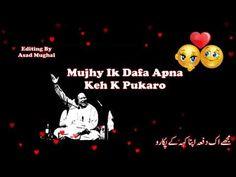 Tumhary Siwa Koi Ustad NFAK | Best WhatsAap Status | By Asad Mughal - YouTube Rahat Fateh Ali Khan, Nusrat Fateh Ali Khan, Sufi Songs, Nfak Lines, New Whatsapp Status, Heart Touching Shayari, Love Poetry Urdu, Song Status, Koi