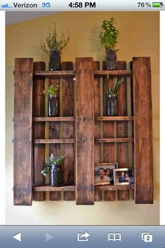 Cute idea with pallets