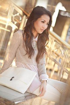 Lilac Love :: Lavender silk & Spring white : Wendy's Lookbook