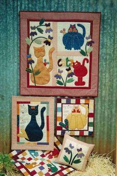 Good Cat ~the more the better... TUTORIAL & PATTERN. (Note: Russian site, but pattern & tutorial are in English) VERY CUTE!!!