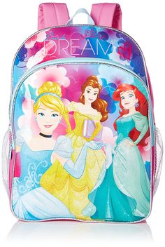 Disney Girls' Princess Dare To Dream 16 Inch Backpack ** Read more  at the image link.
