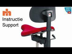 RH Support -- Instructievideo - De werkstoel voor flexibel zitten/staan. - YouTube   www.objectform.nl