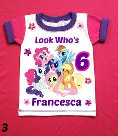 My little Pony Birthday Girl Shirt by FantasyKidsParty on Etsy