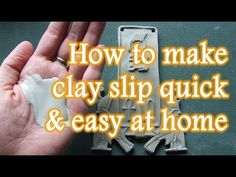 A step-by-step video guide on how to make clay slip for ceramics. A simple pottery tip video to help save you money. Clay Slip is useful for slip trailing, r. Pottery Tools, Slab Pottery, Glazes For Pottery, Ceramic Pottery, Pottery Wheel, Ceramic Techniques, Pottery Techniques, Glazing Techniques, Pottery Lessons